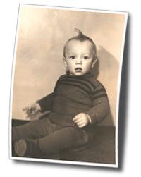 Charly Jando als Baby